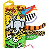 XILALU Infant Kid Baby Animal Tails Cloth book Baby Toy Cloth Development Books Learning Education Books (A)