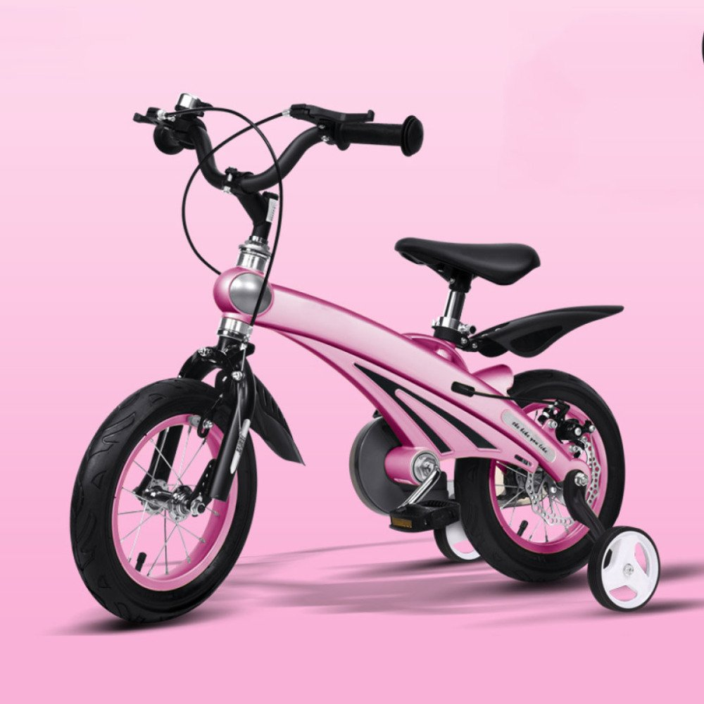 QXMEI Bicicleta Niños Niños Niñas Bicicletas 2-4-6 Años 12/14/16 Pulgadas Niños Bicicleta,A(12Inches)