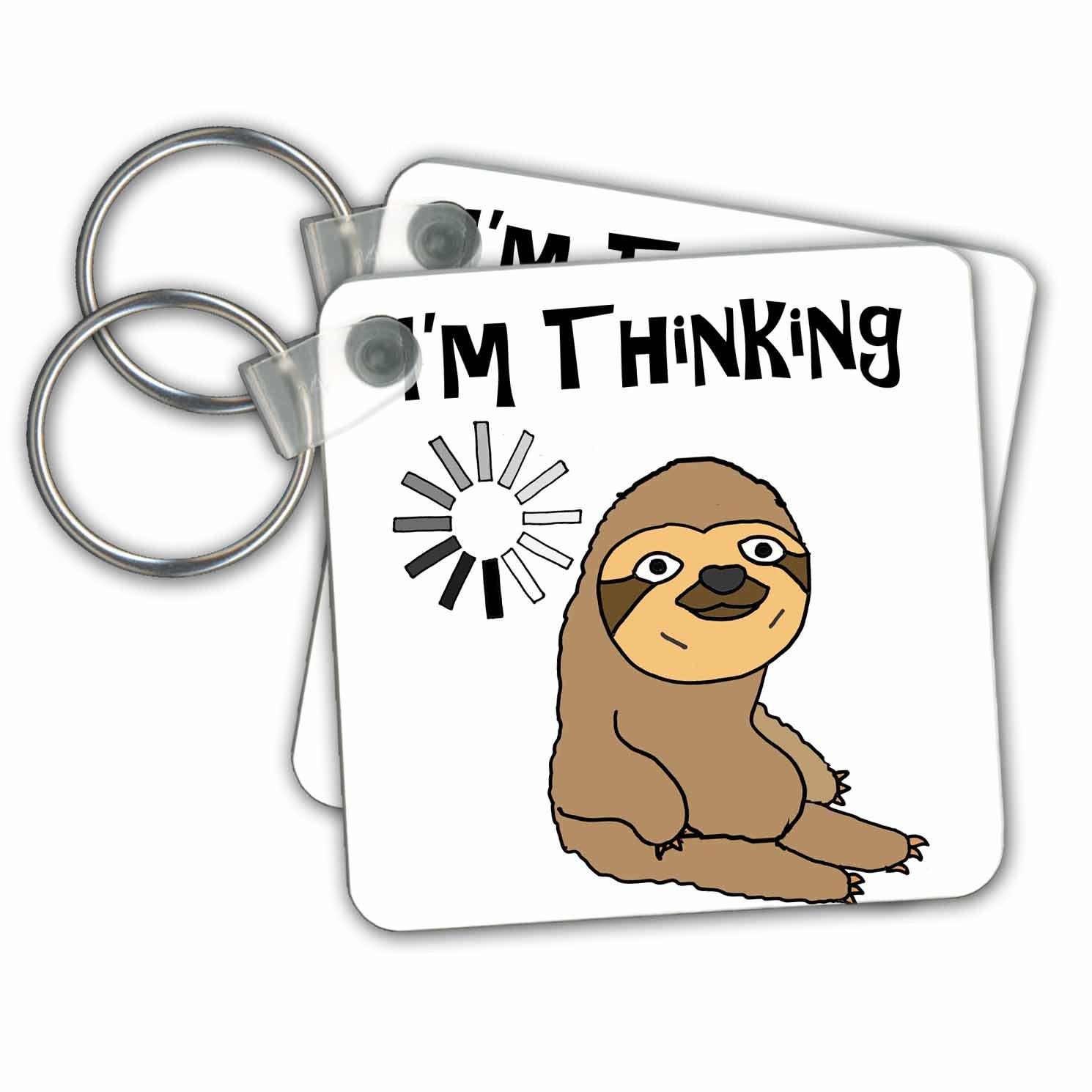 Amazon Com All Smiles Art Funny Funny I Am Thinking Sloth