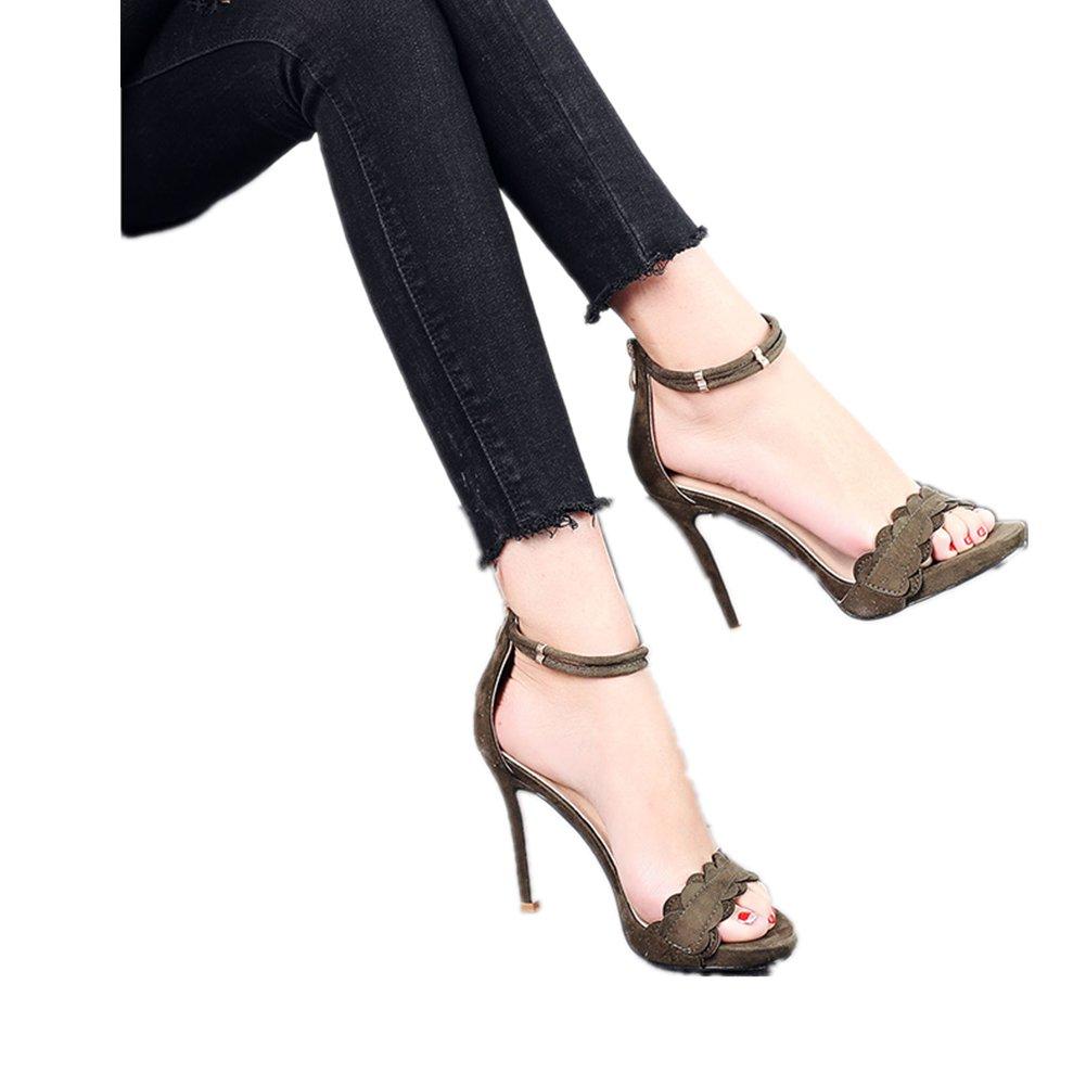 Bbdsj Frauen High Heels Sexy Sexy Sexy Fashion Heels Rundköpfigen High Heel Spitze Offenen Sie Zehe Eine Schnalle Frauen High Heels. a4f706