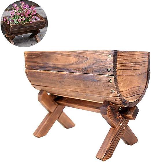 CJSWT Jardinera de Cama de jardín elevada Flor de Madera Vegetal elevada Kit de Jardinera Rectangular Caja Patio al Aire Libre Patio Trasero, 2: Amazon.es: Jardín