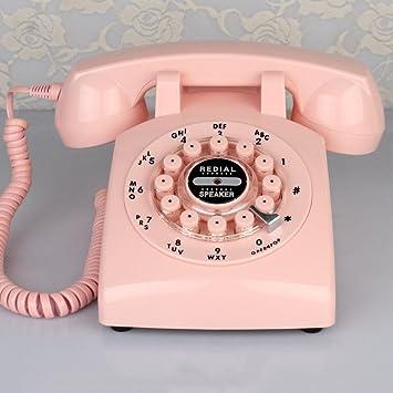Teléfono Antiguo Teléfono Retro de la Manera Teléfono Fijo Continental Teléfono inalámbrico de la Tarjeta Estilo Europeo rotatorio Fijo,G: Amazon.es: Electrónica