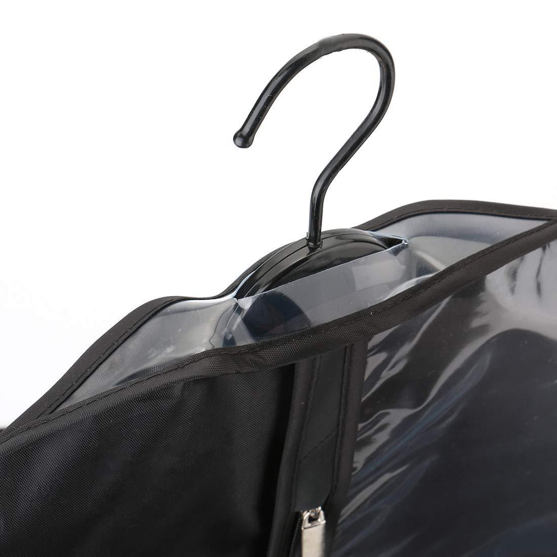 Lavabile per Abiti Confezione da 5 Borse Porta Abiti in Tessuto Oxford con Cerniera e Finestra Trasparente per Viaggi e conservazione Camicie Vestiti LAWEI Cappotti Protezione antitarme