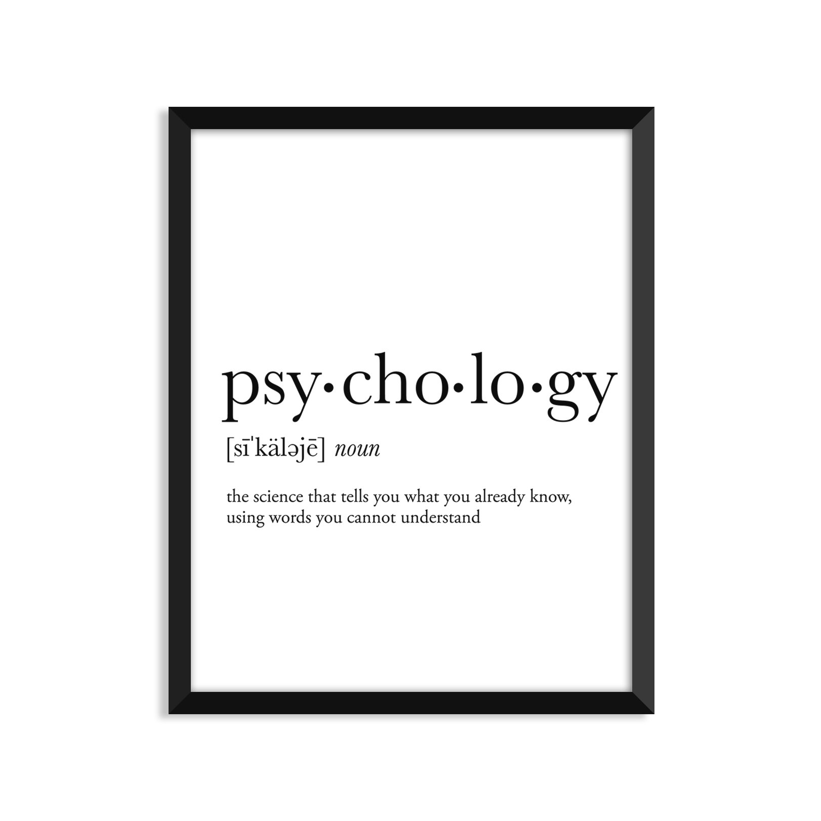 Psychology Definition - Unframed Art Print Poster Or Greeting Card
