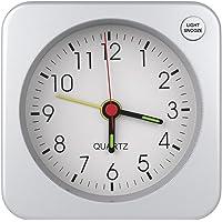 MoKo Mini Reloj Despertador Cuadrado, Simple Despertador Plástico