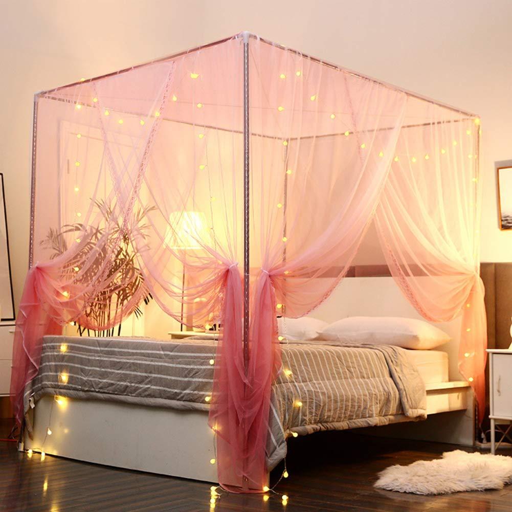 KE & LE Hanging Mosquito Net, Mosquito Net for Crib Baby Crib Net Folding Design with Bottom-b W:180cmxh:195cmxd:200cm by KE & LE (Image #4)