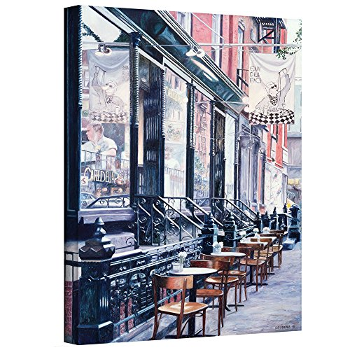 Art Wall Anthony Butera's Cafe Della Pace East 7th Street New York City 1991 Gallery-Wrapped Canvas Artwork, 16 x 24, Multicolor from Art Wall