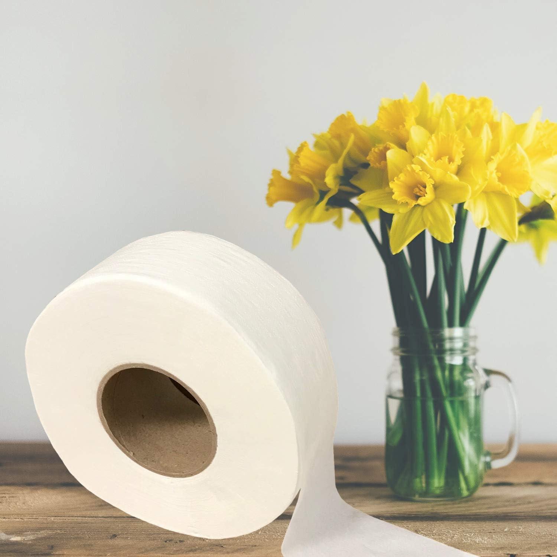 Case of 12-Rolls 2-Ply Toilet Tissue Rolls 9 Jumbo Roll Toilet Paper Industrial Size