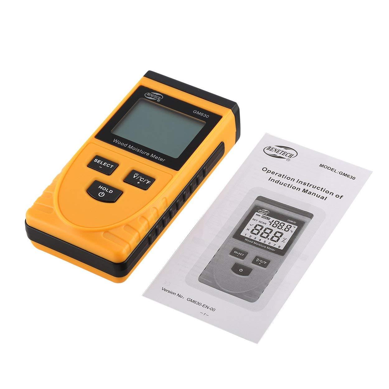 Messung Und Analyse Instrumente Benetech Gm630 Digital Lcd Display Holz Feuchtigkeit Meter Feuchtigkeit Test Holz Papier Baum Damp Detector Dichte Hygrometer