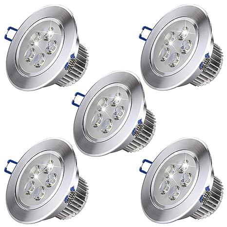 Paquete 5 Luces LED de techo Blanco cálido Luces empotrables ...