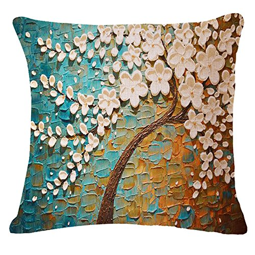 Painting Flower Cotton Cushion Decorative