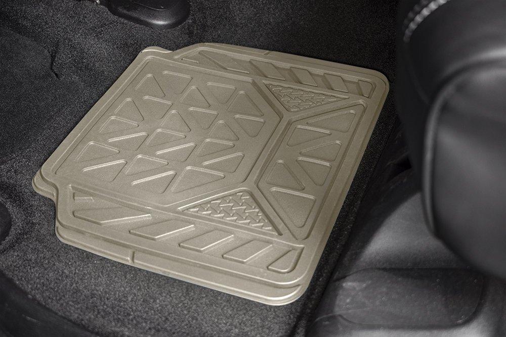 Armor All 79960 4-Piece Black Rubber Value Floor Mat