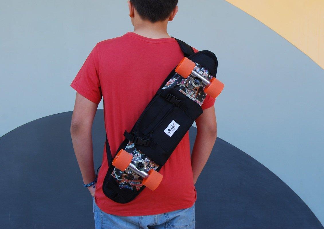 SKATE HOME Backpack, shoulder bag for 22 and 23 inches cruiser skateboard. Black by SKATE HOME (Image #1)