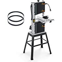 10-Inch 3.5-Amp Band Saw, 2160FPM & 3150FPM, Movable LED Worklight, 0°to 45°Bevel Cutting, Band Saw with Additional…