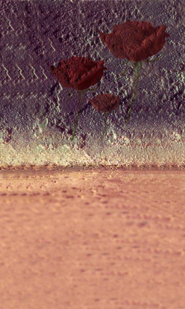 壁掛け写真背景に赤い花の絵 美しい花 ビニール 幅98.4インチ 高さ59インチ 1.52.1M   B01FZ47D28