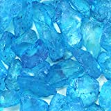 Koyal Wholesale Centerpiece Vase Filler Decorative Crushed Glass, 4.5-Pound, Turquoise Blue