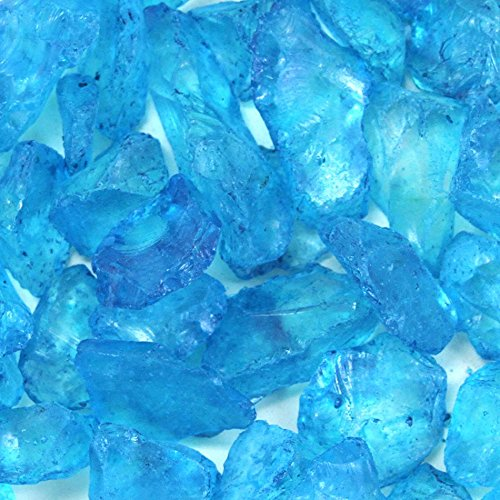 Koyal Wholesale Centerpiece Vase Filler Decorative Crushed Glass, 4.5-Pound, Turquoise Blue ()