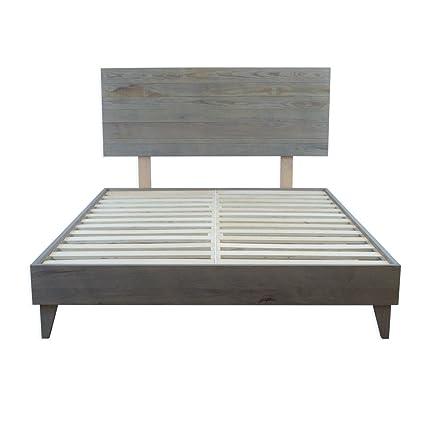 Amazoncom Eluxurysupply Wood Platform Bed With Headboard Solid