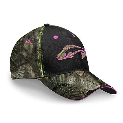 ead9cbd1074c Fishouflage Bass - Gorro de Pesca para Mujer, diseño de Camuflaje ...