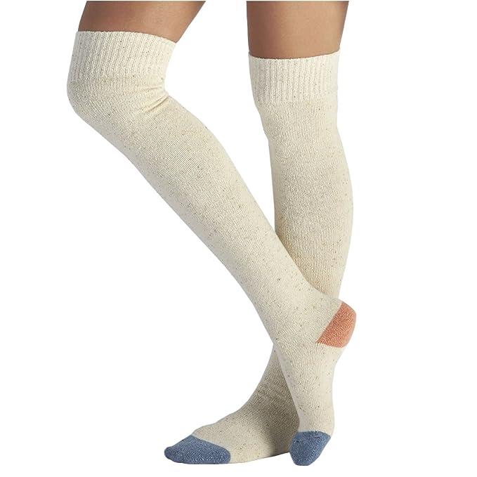 UGG Costilla bloqueada en color para mujer sobre los calcetines a la rodilla en Freshwater Pearl O / S W US: Amazon.es: Ropa y accesorios