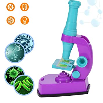 Oldeagle Kids Toys, Microscopio Infantil 600X con Kits de ...