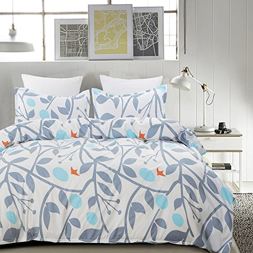 Purchase Vaulia Lightweight Microfiber Duvet Cover Sets, Reversible Print Pattern Design - Full/Quee...