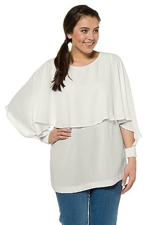 Ulla Popken Womens Plus Size Chiffon Wrap Knit Top 714925 At Amazon