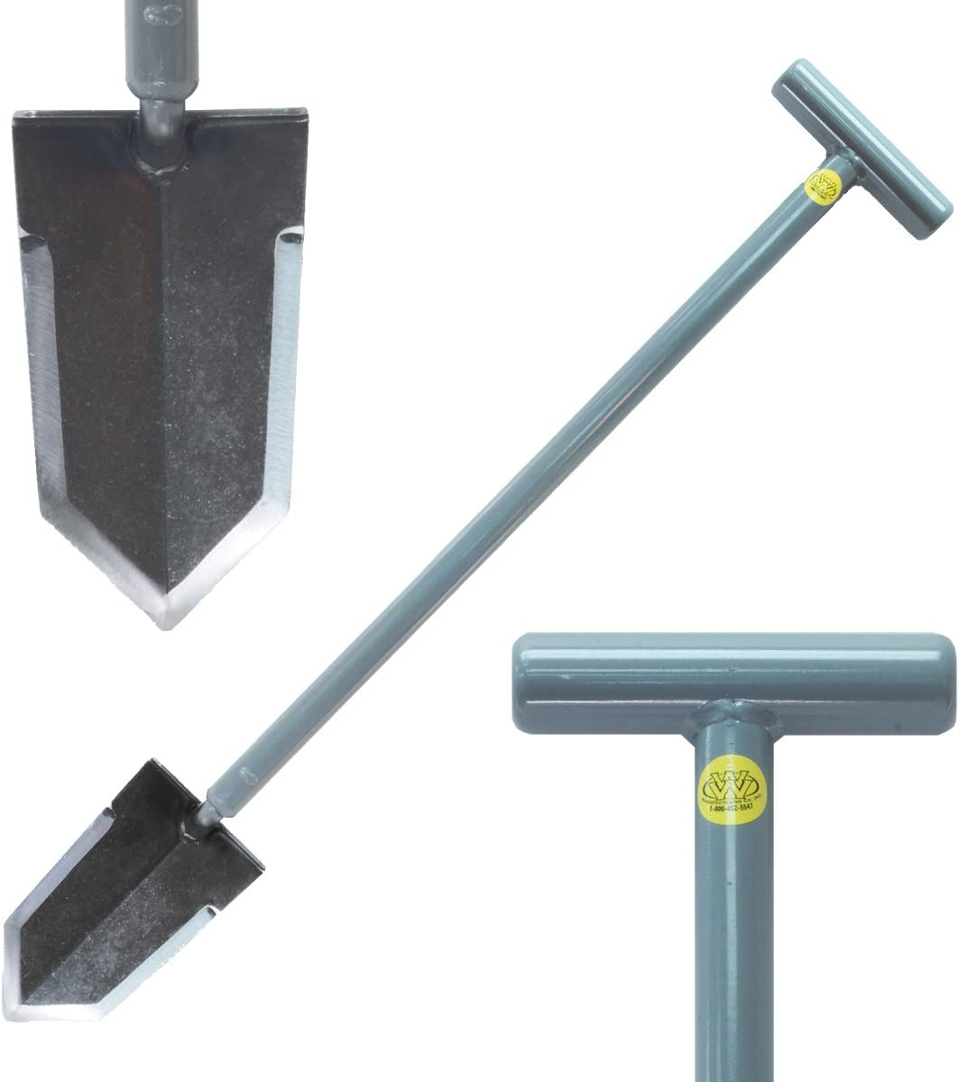 Lesche Sampson Pro-Series Shovel with T-Handle for Metal Detecting and Gardening
