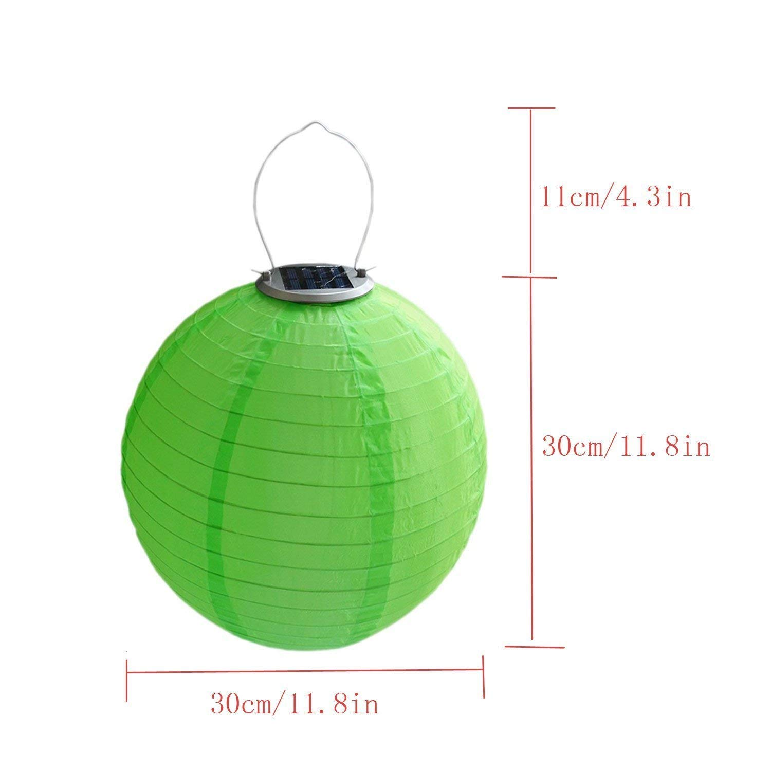RioRand Chinese waterproof outdoor garden solar hanging LED light lanterns (Red/green/blue/yellow) by RioRand (Image #2)