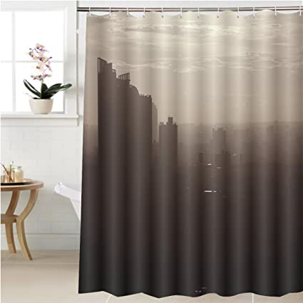 Gzhihine Shower Curtain Global Warming Bathroom Accessories 72 X 92 Inches