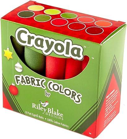 Riley Blake Designs Crayola Solids Fat Quarter Box Precut Fabric