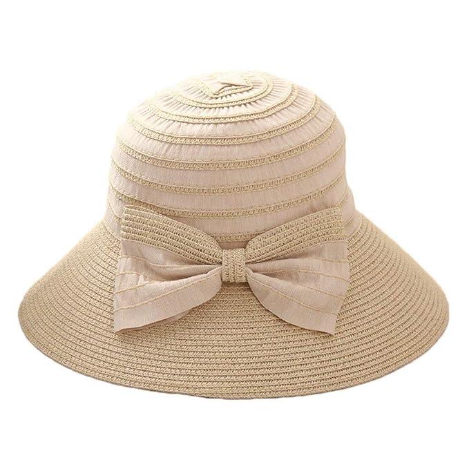 Saoye Fashion Gorros Sombrero De Sol para Mujer Sombrero De Paja Protección  Fácil De Igualar  Amazon.es  Ropa y accesorios 68cd59a728d
