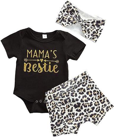 Toddler Infant Baby Girl Boy Short Sleeve Letter Romper Bodysuit Clothes Outfits