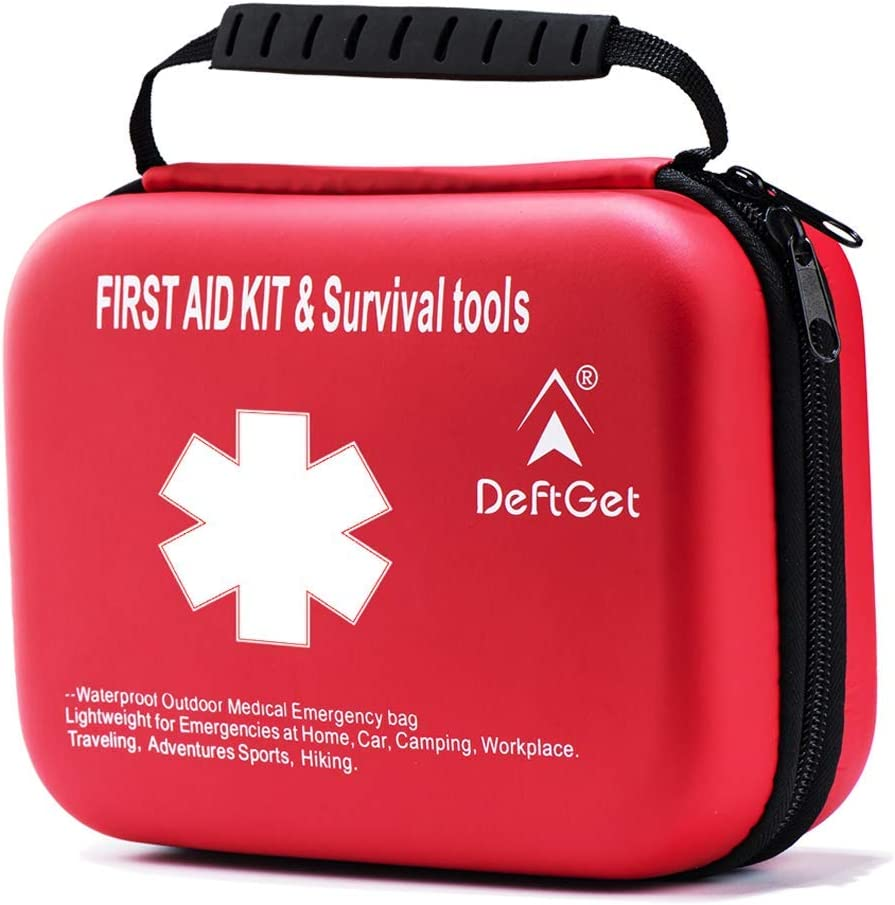 Compact First Aid Kit - Mini Survival Tools Box IFAK - Outdoor Medical Emergency Bag Lightweight for Emergencies at Home Car Camping Workplace Traveling Adventures Sports Hiking by deftget