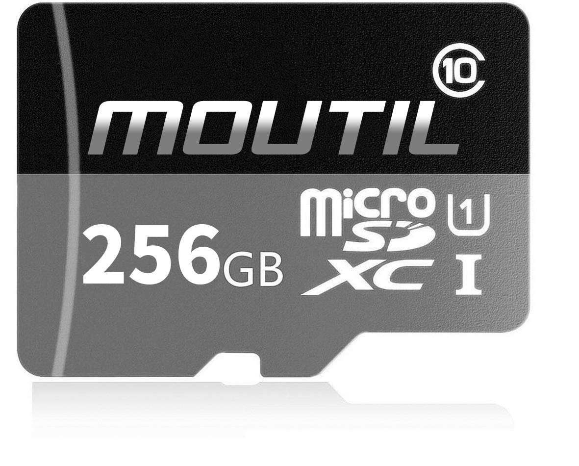 MOUTIL 256GB Micro SD SDXC High Speed Class 10 Transfer Speeds Action Cameras, Phones, Tablets PCs