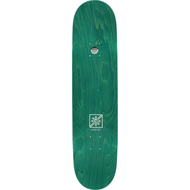 Bundle of 2 Items 8.25 x 32.125 with Mob Grip Perforated Black Griptape Habitat Skateboards Monopod Embossed Green Skateboard Deck