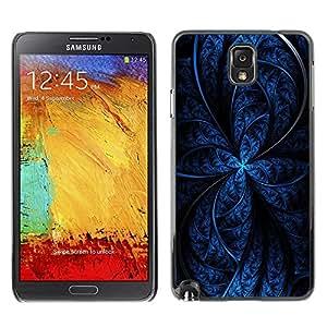 Caucho caso de Shell duro de la cubierta de accesorios de protección BY RAYDREAMMM - Samsung Galaxy Note 3 N9000 N9002 N9005 - Blue Abstract