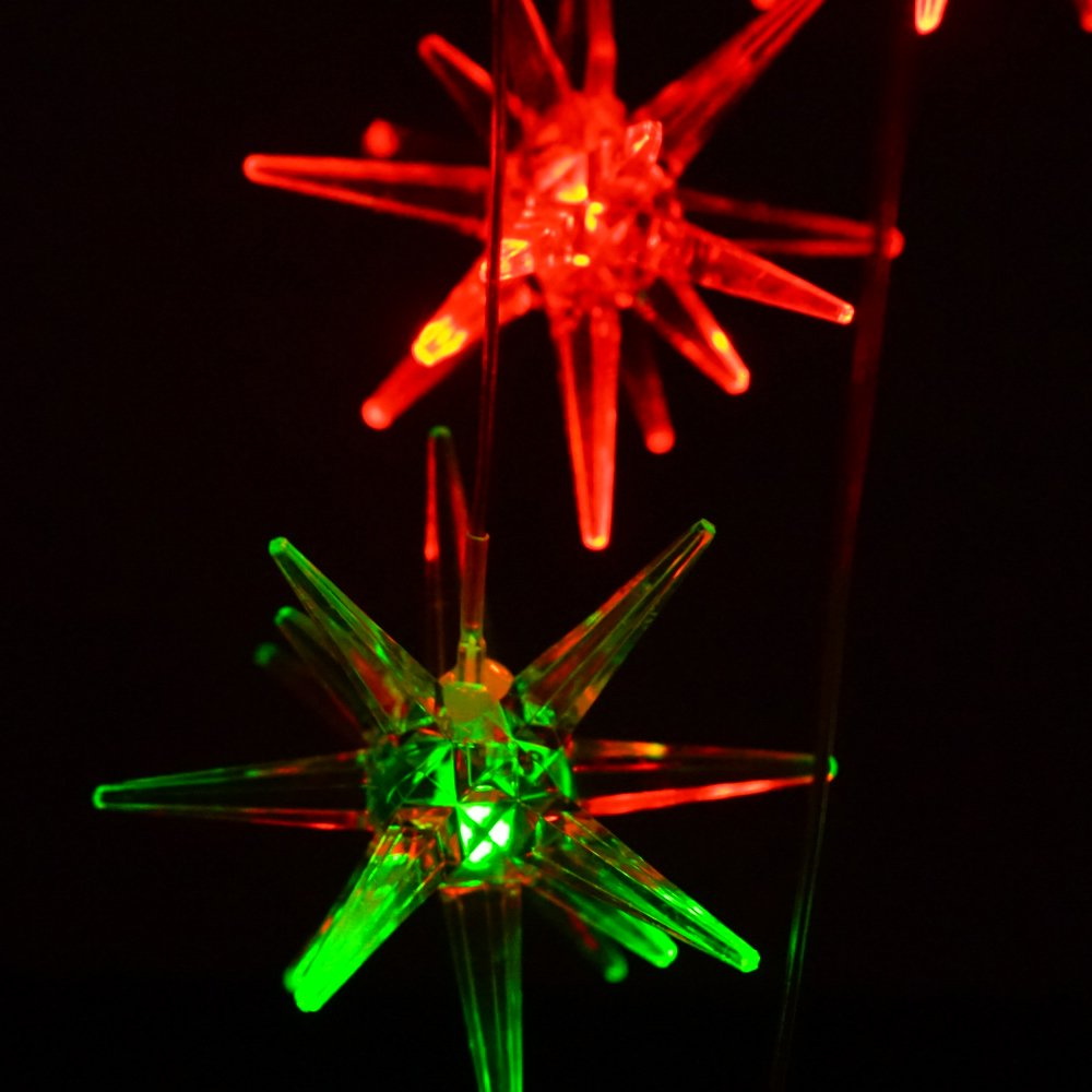 Clear Urchin Star LED Solar Wind Spinner Light Color Changing Wind Chimes for Out Door Gardent Decoration