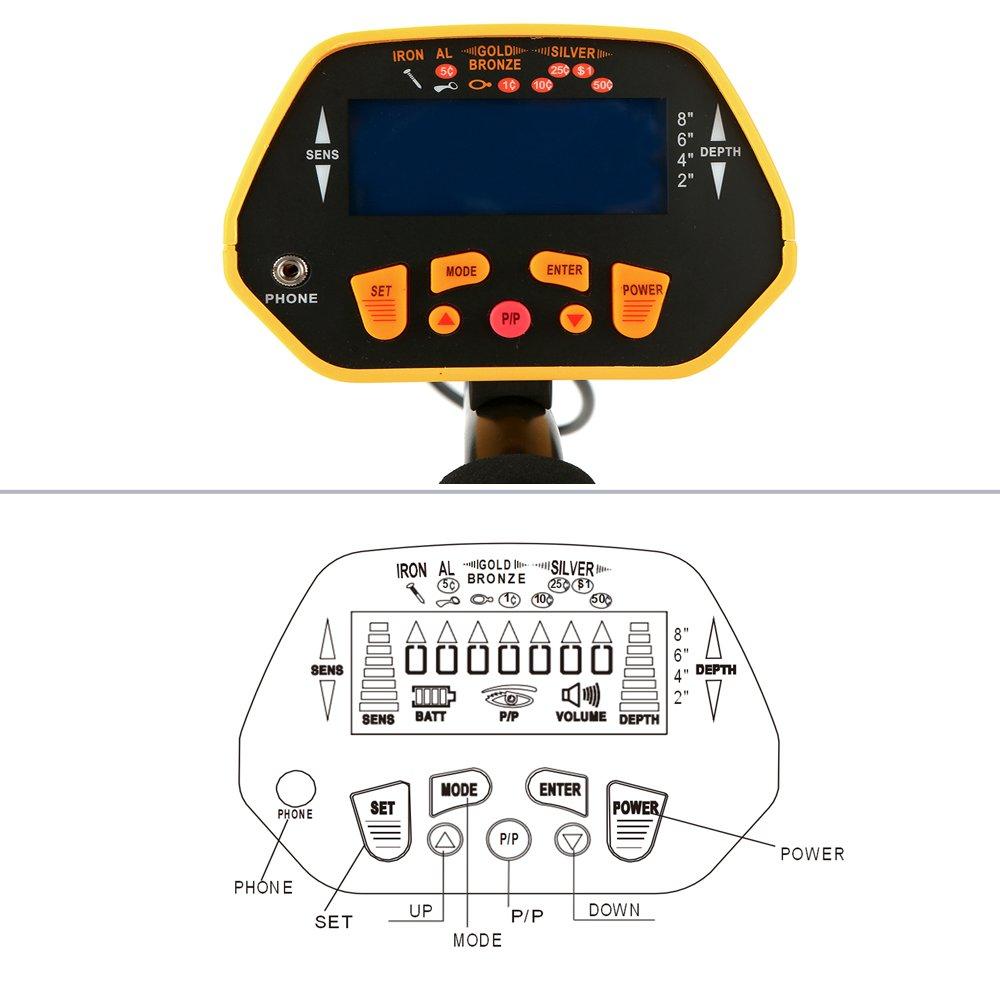 KKmoon Metalldetektor Metallsuchger/ät mit Wasserdichter Suchspule Einstellbare Empfindlichkeit und Einstellbare Lautst/ärke Audioalarm LCD Anzeige Handheld Goldgr/äber Schatzsucher f/ür Kinder