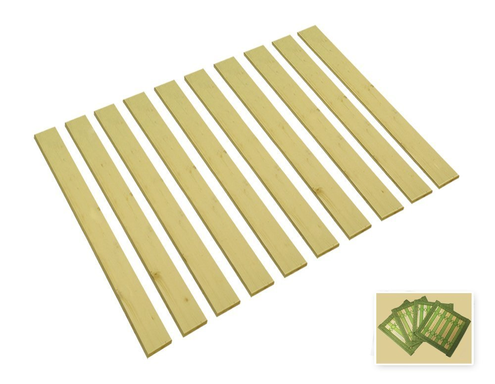 Queen Size Custom Width Detached Bed Slats - Choose the width you need - Help support your box spring and mattress!FREE set of nightstand coasters included (59.50'' Wide) by The Furniture Cove (Image #1)