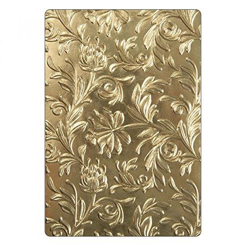 - Sizzix 662716 3-D Texture Fades Embossing Folder, Gold