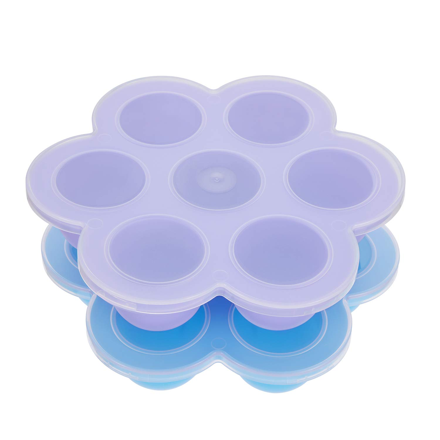 Aozita Silicone Egg Bites Molds for Instant Pot Accessories - Fits Instant Pot 5,6,8 qt Pressure Cooker, Reusable Baby Food Storage Container and Freezer Tray with Lid, Sous Vide Egg Poacher