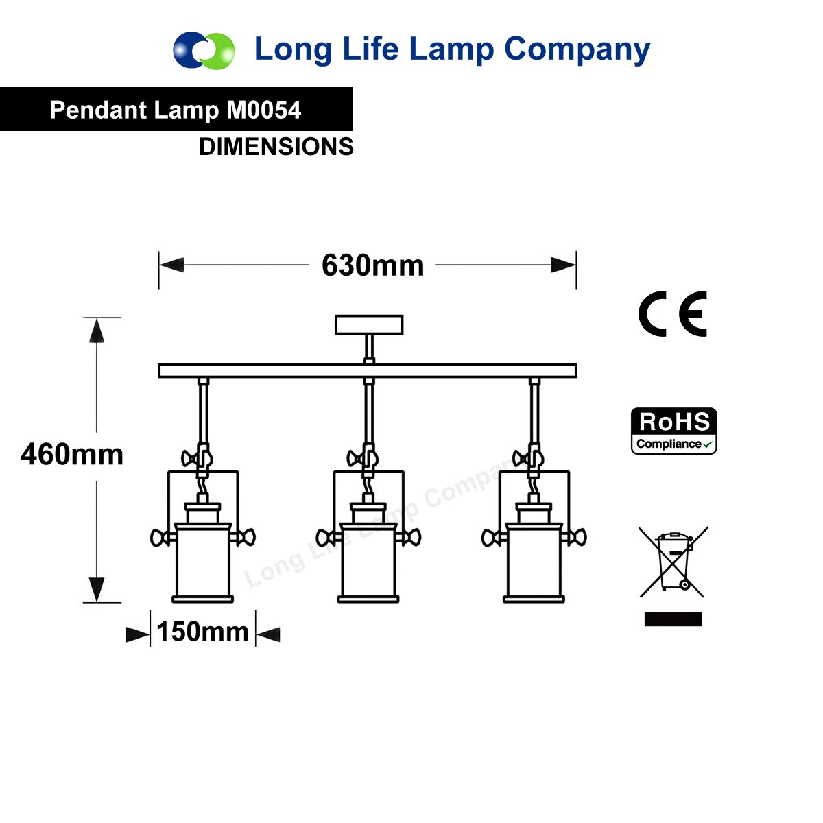 Energy Class A+ Industrial Retro GU10 Ceiling Spotlight Bar 3 Lamp Black Metal Adjustable Track Light Fitting M0054 Long Life Lamp Company