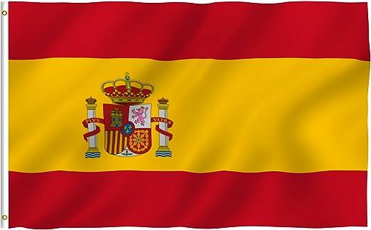Flags Unlimited Nuevo 3 x 5 nacional Español Bandera de España País banderas: Amazon.es: Jardín