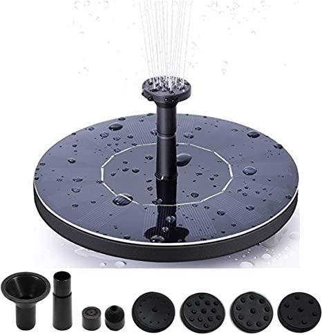 Kyerivs Birdbath Solar Fountain Pump 1 5w Circle Garden Solar Powered Water Pump Floating Fountain Pump For Birdbaths Ponds Solar Powered Water Fountains Submersible Pump Kit Garden Decorations Amazon Co Uk Garden Outdoors