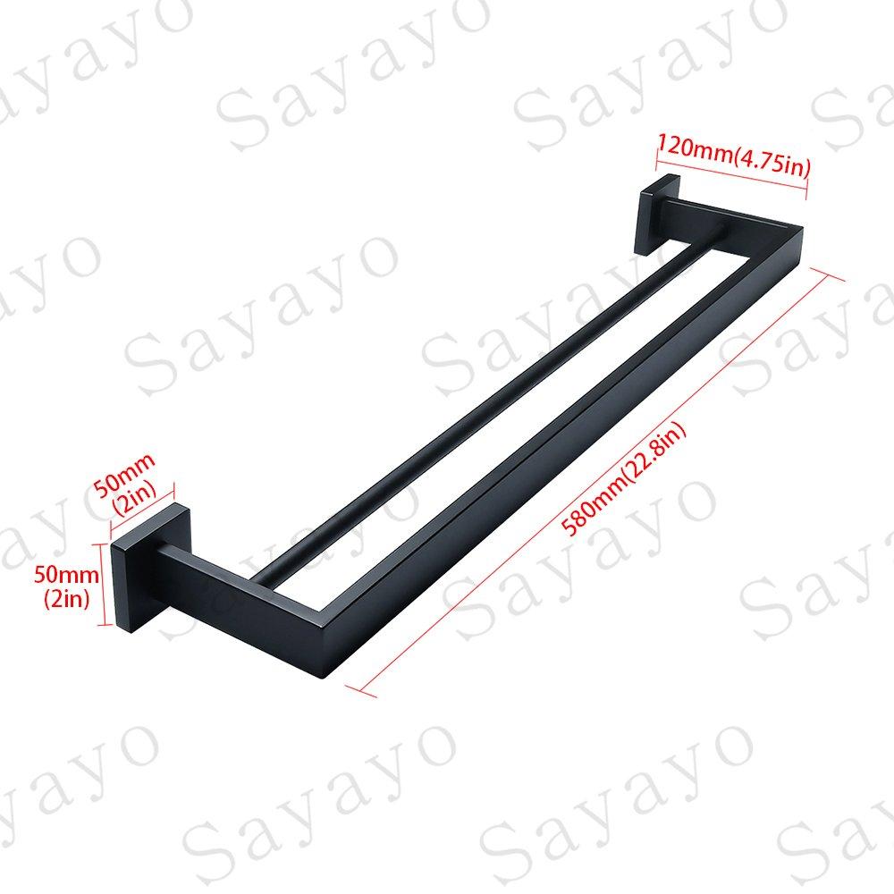 SUS304 Edelstahl matt schwarz EGS7025-B Sayayo Bademantel Haken Einzel Handtuch Haken Wand montiert