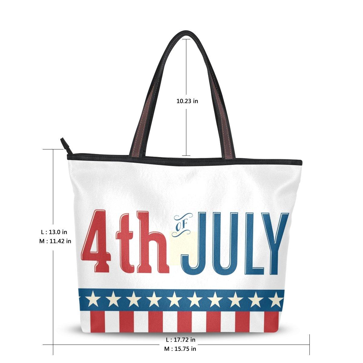 DEYYA - Bolso y grande Bolso para mujer, con bandera americana ...