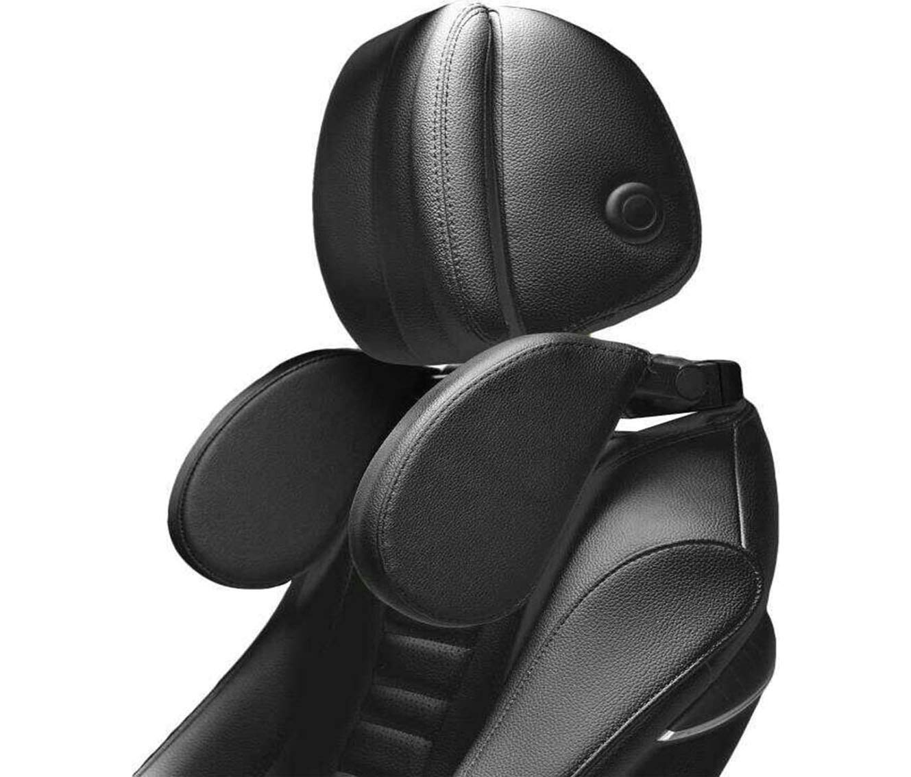 Ruya Car Headrest Pillow,Car Headrest Side Pillow,Car Seat Pillow,Car Headrest Neck Support,Travel Neck Pillow, Travel Sleeping Cushion for Kids Adults Black