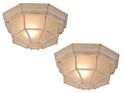 Set luci esterne perseus per parete e soffitto ø cm alluminio