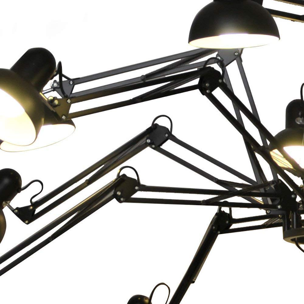 Black9 WHKHY Spider Chandelier Design MultiArm Telescopic Black White 6 9 12 16 Projector, E27 Interface